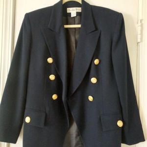 Sz 8 Vintage Christian Dior 💯 wool blazer